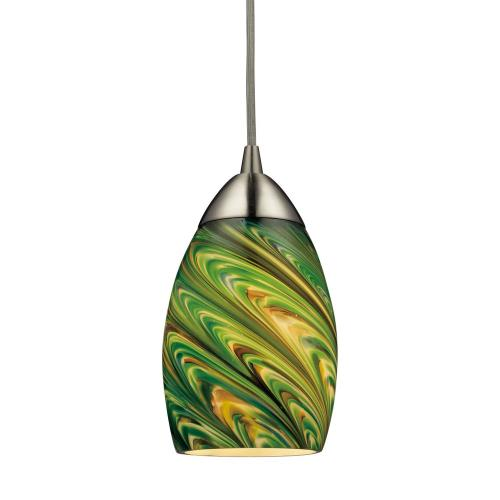 Elk Lighting 10089/1 Mini Vortex - 9.5W 1 LED Mini Pendant in Transitional Style with Luxe/Glam and Boho inspirations - 7 Inches tall and 4 inches wide