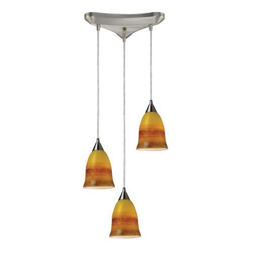 Elk Lighting 10218/3ERH Horizon - Three Light Pendant