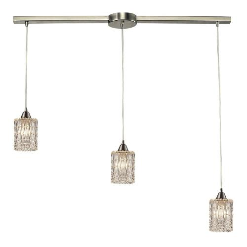 Elk Lighting 10343/3 Kersey - 3 Light Linear Pendant in Modern/Contemporary Style with Luxe/Glam and Boho inspirations - 8 Inches tall and 5 inches wide