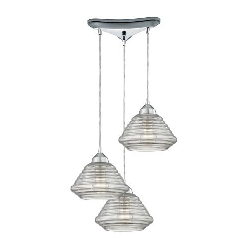 Elk Lighting 10424/3 Orbital - Three Light Triangular Pendant