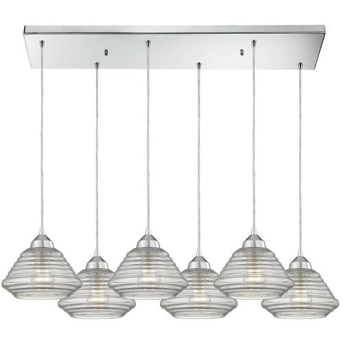 "Elk Lighting 10424/6RC Orbital - 7"" Six Light Pendant"