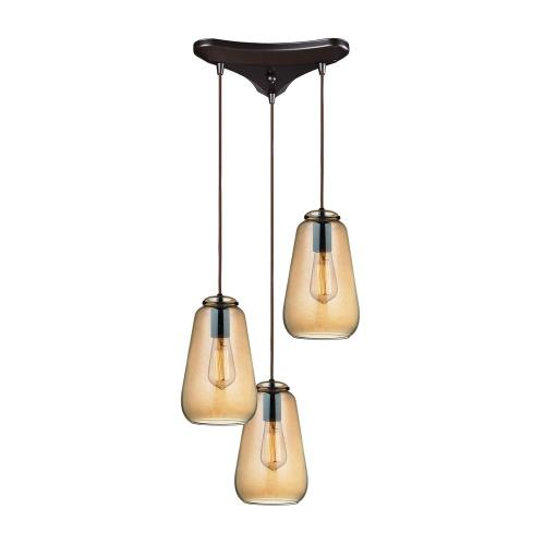 Elk Lighting 10433/3 Orbital - Three Light Triangular Pendant