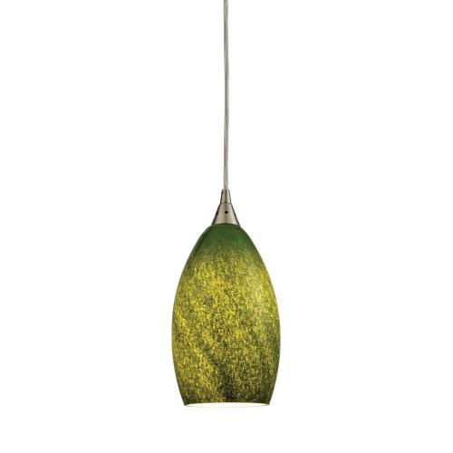 Elk Lighting 10510/1 Earth - 1 Light Mini Pendant in Transitional Style with Coastal/Beach and Eclectic inspirations - 11 Inches tall and 5 inches wide