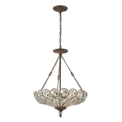 Elk Lighting 12024/5 Christina - 5 Light Pendant in Traditional Style with Victorian and Luxe/Glam inspirations - 26 Inches tall and 20 inches wide