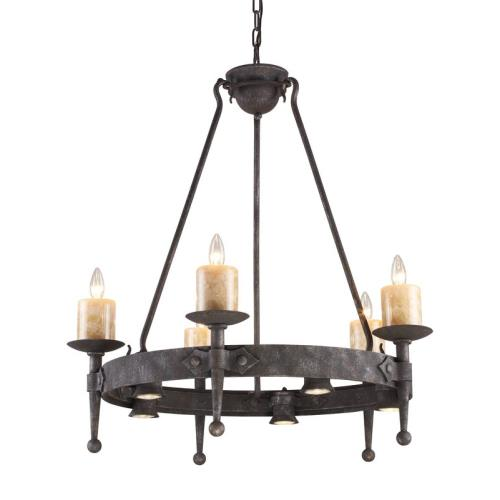Elk Lighting 14005/5+5 Cambridge - 10 Light Chandelier in Traditional Style with Vintage Charm and Country/Cottage inspirations - 34 Inches tall and 33 inches wide