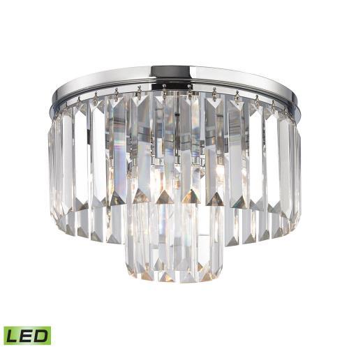 Elk Lighting 152-3/1-LED Palacial - 12 Inch 4.8W 1 LED Semi-Flush Mount