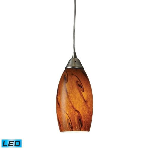 Elk Lighting 20001/1 Galaxy - 9.5W 1 LED Mini Pendant in Transitional Style with Boho and Eclectic inspirations - 9 Inches tall and 5 inches wide
