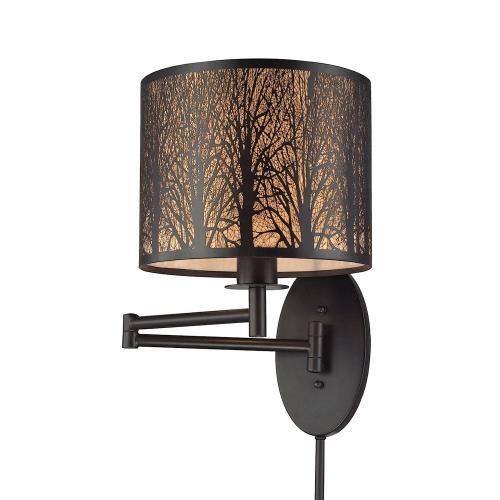 Elk Lighting 31069/1 Woodland Sunrise - One Light Swingarm Wall Sconce