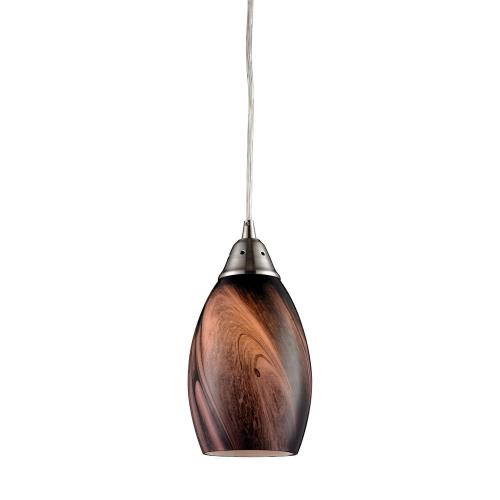 Elk Lighting 31133/1 Formations - 1 Light Pendant in Transitional Style with Coastal/Beach and Country/Cottage inspirations - 9 Inches tall and 5 inches wide