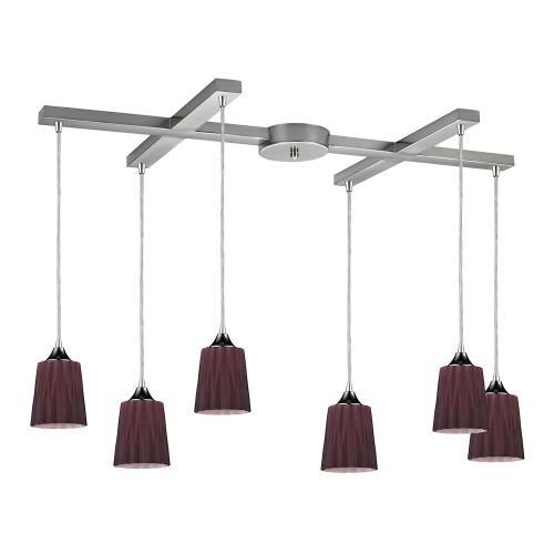 Elk Lighting 31141/6PUR Angles - Six Light Pendant