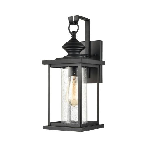 Elk Lighting 45450/1 Minersville - 1 Light Outdoor Wall Sconce in Transitional Style with Vintage Charm and Victorian inspirations - 17 Inches tall and 7 inches wide