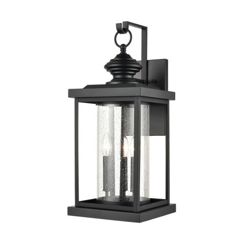 Elk Lighting 45452/3 Minersville - 3 Light Outdoor Wall Sconce in Transitional Style with Vintage Charm and Victorian inspirations - 23 Inches tall and 10 inches wide