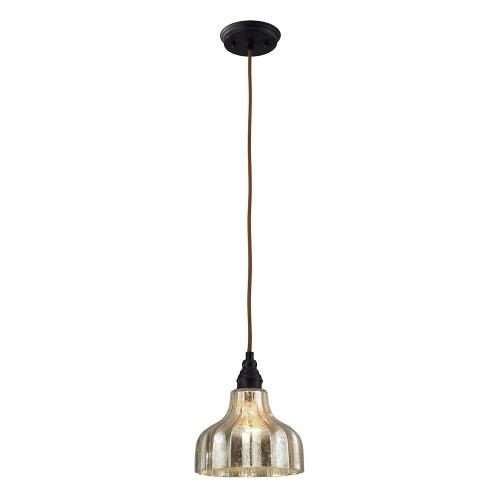 Elk Lighting 46008/1 Danica - 1 Light Mini Pendant in Transitional Style with Luxe/Glam and Modern Farmhouse inspirations - 9 Inches tall and 8 inches wide