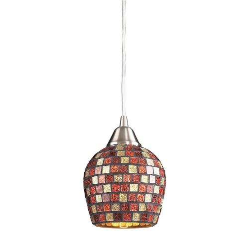 Elk Lighting 528-1 Fusion - 9.5W 1 LED Mini Pendant in Transitional Style with Boho and Eclectic inspirations - 7 Inches tall and 5 inches wide