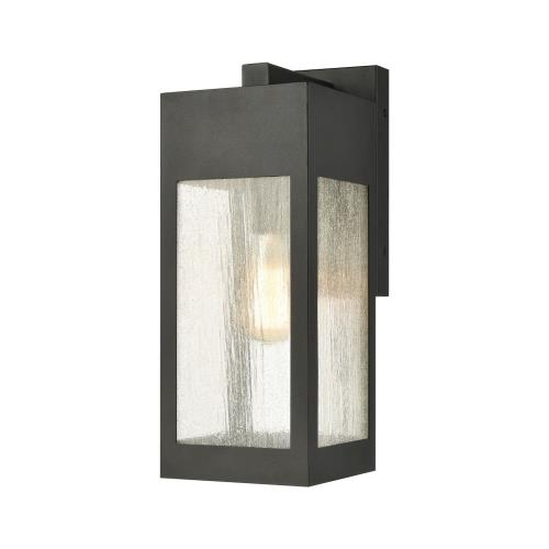 Elk Lighting 57300/1 Angus - 1 Light Outdoor Wall Sconce in Modern/Contemporary Style with Urban and Southwestern inspirations - 13 Inches tall and 4.75 inches wide