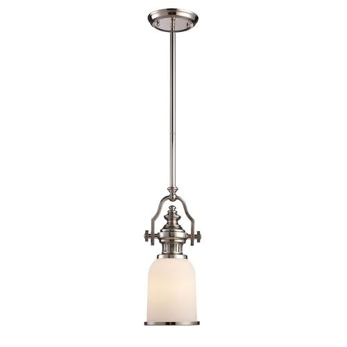 Elk Lighting 66112-1LP-31 Chadwick - 16.5 Inch 1 Light Mini Pendant with Glass, Metal, or Shell Shade