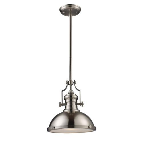 Elk Lighting 66544-1LP-31 Chadwick - 1 Light Pendant in Transitional Style with Modern Farmhouse and Urban/Industrial inspirations - 14 Inches tall and 13 inches wide