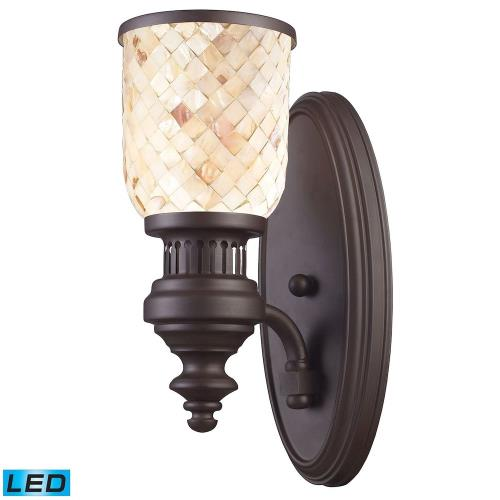 Elk Lighting 66110-1LP-31 Chadwick - 1 Light Wall Sconce in Transitional Style with Urban/Industrial and Modern Farmhouse inspirations - 13 Inches tall and 5 inches wide