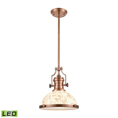 Elk Lighting 66443-1 Chadwick - 13 Inch 9.5W 1 LED Pendant