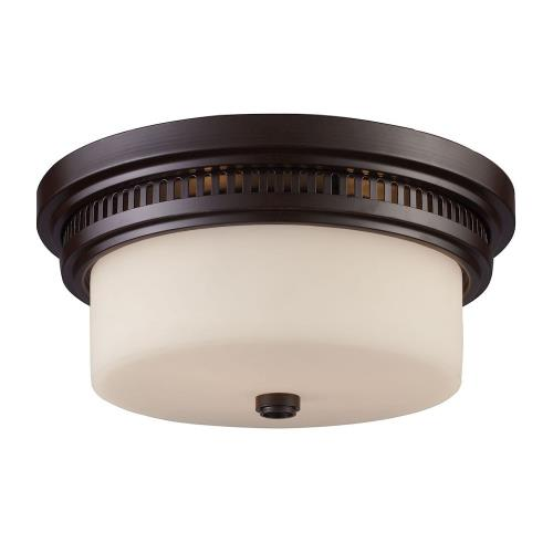 Elk Lighting 66141-2LFM-31 Chadwick - 13 Inch 2 Light Flush Mount with Glass or Shell Shade