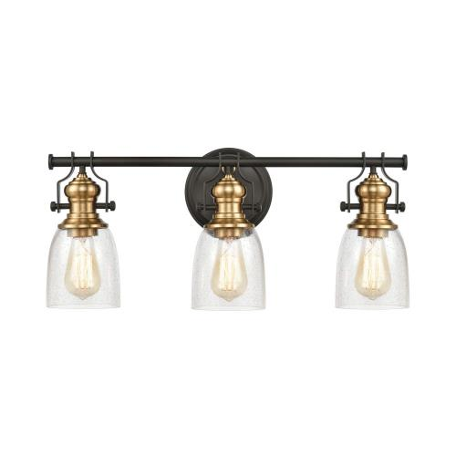 Elk Lighting 66626-3 Chadwick - 3 Light Bath Vanity in Transitional Style with Modern Farmhouse and Urban/Industrial inspirations - 10 Inches tall and 23 inches wide