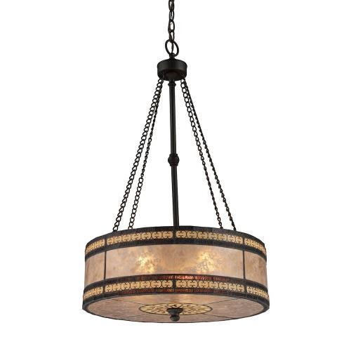 Elk Lighting 70067-3-O Mica Filigree - Three Light Pendant