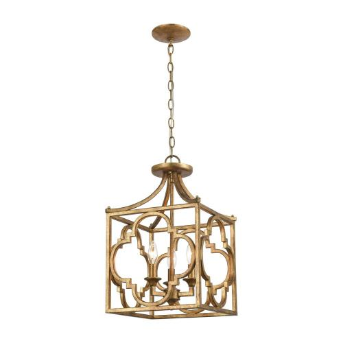 Elk Lighting 75125/3 Wembley - 3 Light Chandelier in Traditional Style with Luxe/Glam and Country/Cottage inspirations - 25 Inches tall and 13 inches wide