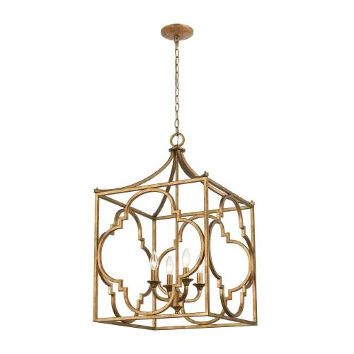 Elk Lighting 75126/4 Wembley - 4 Light Chandelier in Traditional Style with Luxe/Glam and Country/Cottage inspirations - 33 Inches tall and 19 inches wide