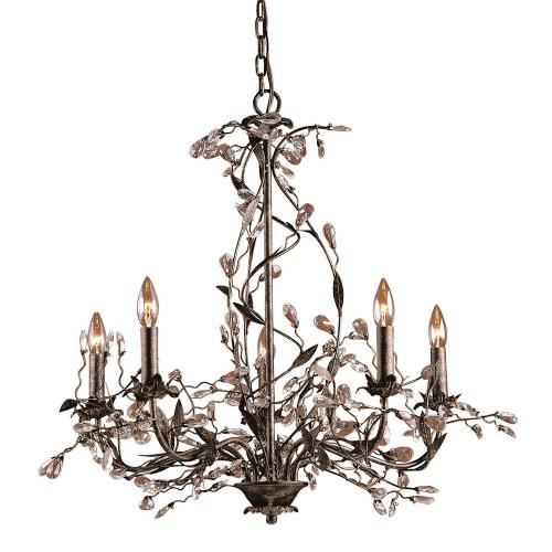 Elk Lighting 8054/5 Circeo - 5 Light Chandelier in Traditional Style with Nature-Inspired/Organic and Shabby Chic inspirations - 28 Inches tall and 27 inches wide