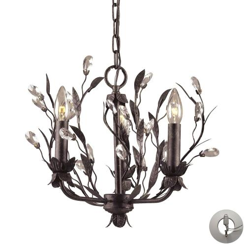 Elk Lighting 8058/3-LA Circeo - 3 Light Chandelier in Traditional Style with Nature-Inspired/Organic and Shabby Chic inspirations - 13 Inches tall and 16 inches wide