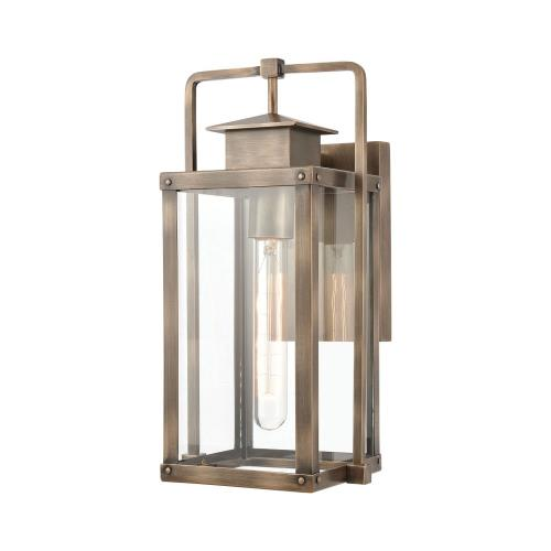 Elk Lighting 89171/1 Crested Butte - 1 Light Outdoor Wall Sconce in Transitional Style with Mission and Vintage Charm inspirations - 14 Inches tall and 7 inches wide