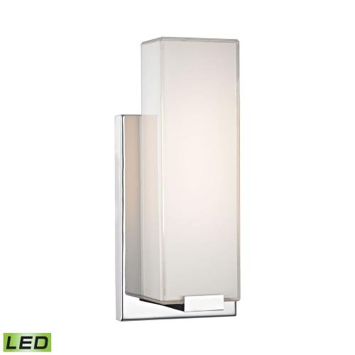 Elk Lighting WSL1601-PW-15 Midtown - 6W 1 LED Wall Sconce in Modern/Contemporary Style with Art Deco and Urban/Industrial inspirations - 11 Inches tall and 4.75 inches wide