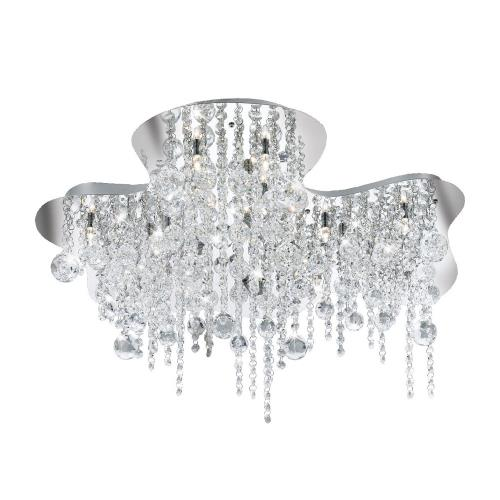 Eurofase Lighting 19397-016 Alissa - Eighteen Light Flush Mount - 20.5 Inches Wide by 9.5 Inches High