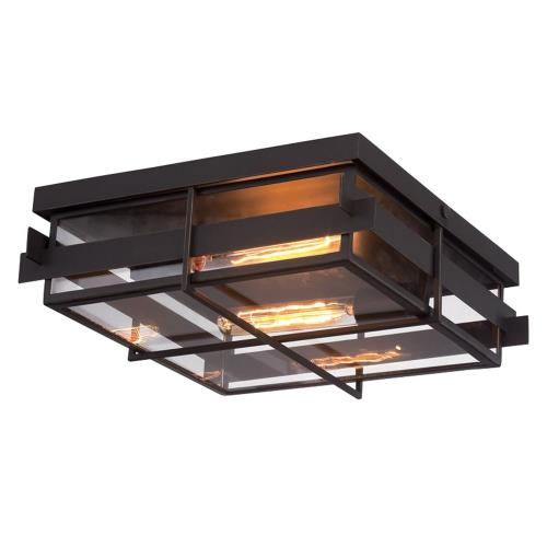 Eurofase Lighting 28055-013 Muller - 2 Light Flush Mount - 14 Inches Wide by 5 Inches High