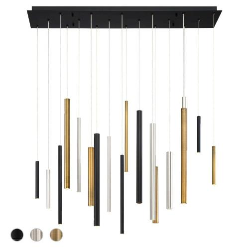 Eurofase Lighting 31446 Santana Linear Chandelier 18 Light - 10 Inches Wide by 20 Inches High