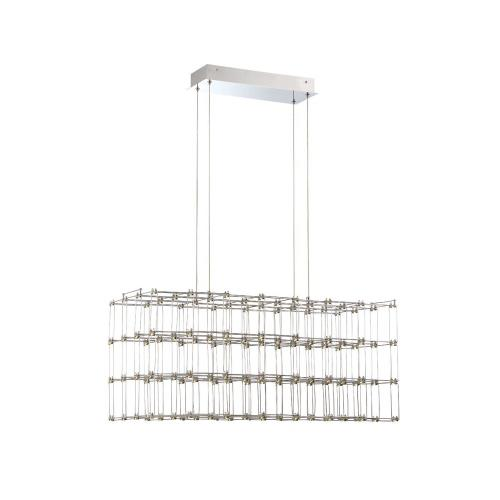 Eurofase Lighting 33717-012 Linwood Rectangular Chandelier 128 Light - 14.25 Inches Wide by 14.5 Inches High