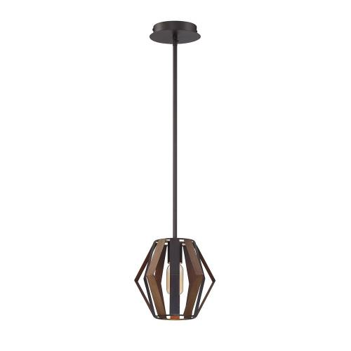Eurofase Lighting 38266 Bevelo - 1 Light Mini Pendant in Transitional Industrial Style - 8.75 Inches Wide by 8 Inches High