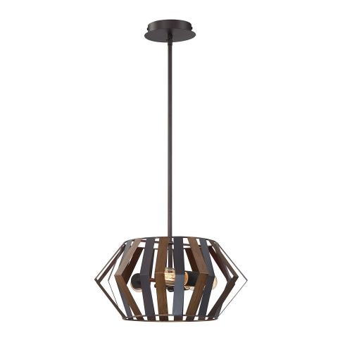 Eurofase Lighting 38267 Bevelo - 3 Light Convertible Pendant in Transitional Industrial Style - 16 Inches Wide by 8 Inches High