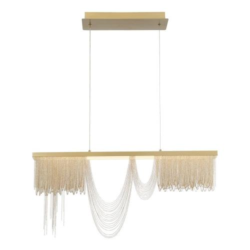 Eurofase Lighting 39283 Tenda - 48W LED Chandelier in Posh & Luxe Glam Style - 2.75 Inches Wide by 16.5 Inches High