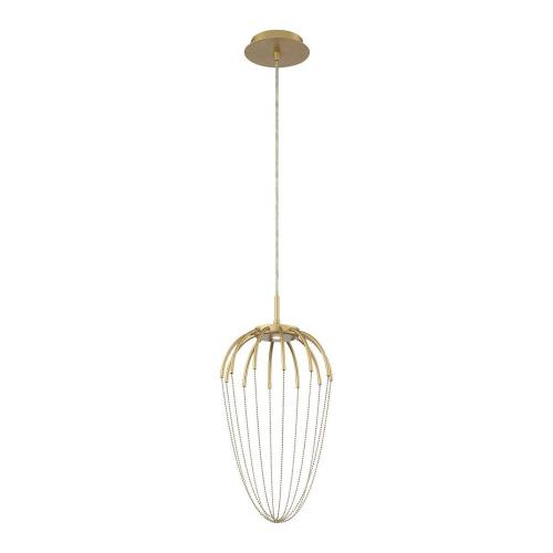 Eurofase Lighting 39325 Frusta - 8W 1 LED Pendant in Scandinavian Transitional Style - 9.75 Inches Wide by 20 Inches High