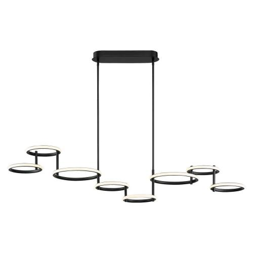Eurofase Lighting 39421 Giro - 115W 8 LED Chandelier in Minimalist Industrial Style - 13.5 Inches Wide by 13 Inches High