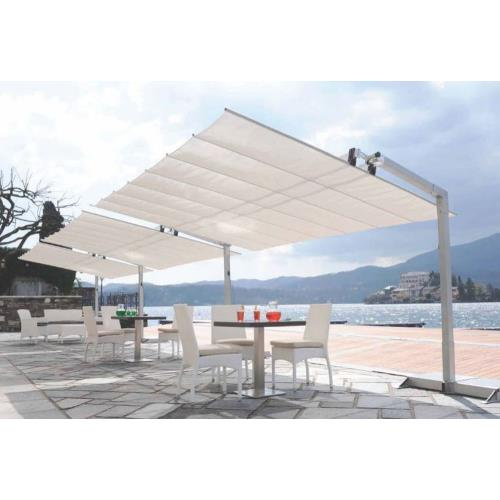 FIM Manufacturing Flexy10x16 Flexy - 10' x 16' Commercial Dual-Post Umbrella