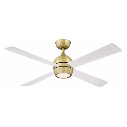 Fanimation Fans FP7652 Kwad 4 Blade 52 Inch Ceiling Fan with Handheld Control and Includes Light Kit