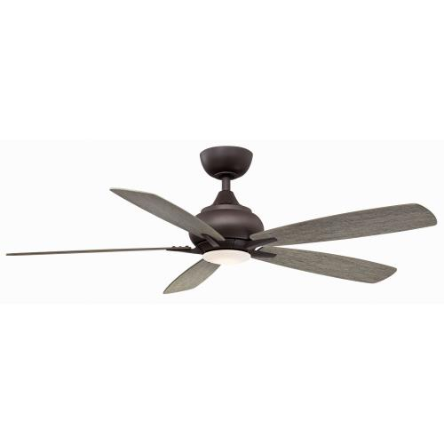 Fanimation Fans FP8533 Doren 5 Blade 52 Inch Ceiling Fan with Handheld Control and Includes Light Kit