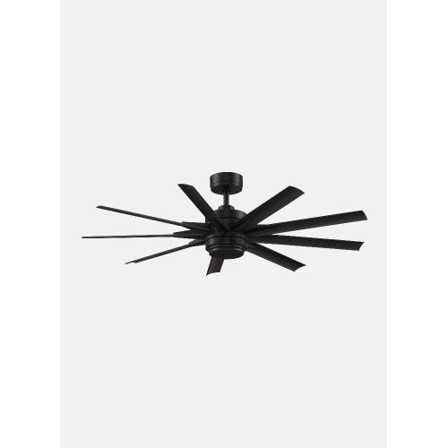 Fanimation Fans FPD8152BLW-72103 Odyn Custom 9 Blade Ceiling Fan with Handheld Control and Includes Light Kit - 72 Inches Wide by 16.64 Inches High