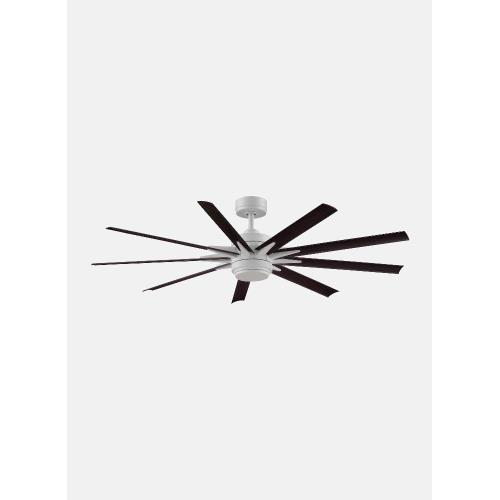 Fanimation Fans FPD8152BLW-64103 Odyn Custom 9 Blade Ceiling Fan with Handheld Control and Includes Light Kit - 64 Inches Wide by 16.64 Inches High