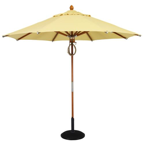 Fiberbuilt Umbrellas 9WPP Wood - 9' Octagon Umbrella