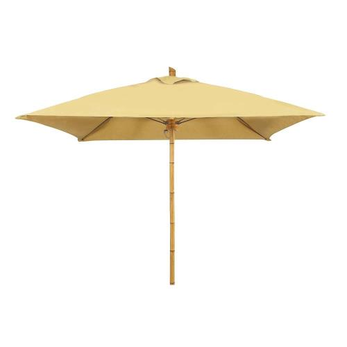 Fiberbuilt Umbrellas 6SQSPU Bambusa - 6' Square Umbrella