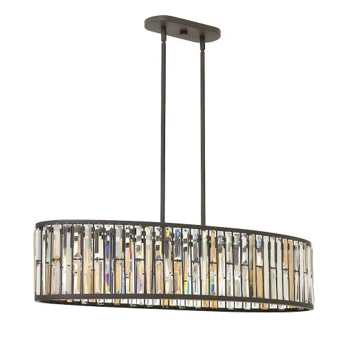 Fredrick Ramond Lighting FR33738 Gemma - Six Light Stem Hung Linear Foyer