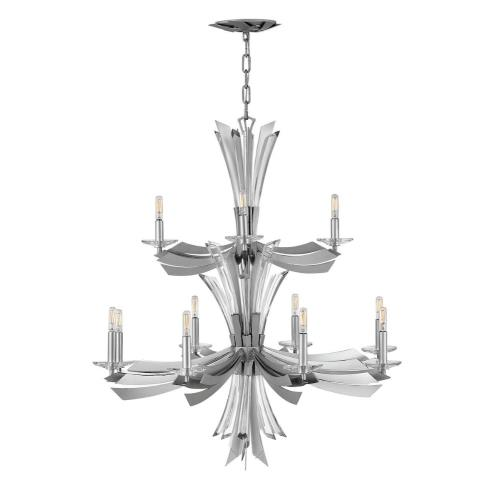 Fredrick Ramond Lighting FR40909GG Vega-Three Light Linear Oval Pendant-34 Inches Wide by 37.25 Inches Tall